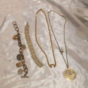 Gold fashion jewelry.